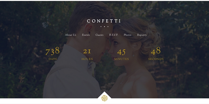 Confetti Wedding Theme